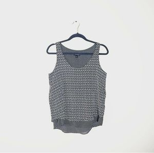3/$25 CYNTHIA ROWLEY Two Layer Pattern Tank